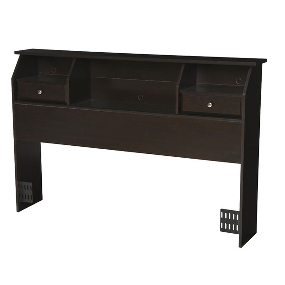 queen full size storage headboard drawers bookcase wood. Black Bedroom Furniture Sets. Home Design Ideas