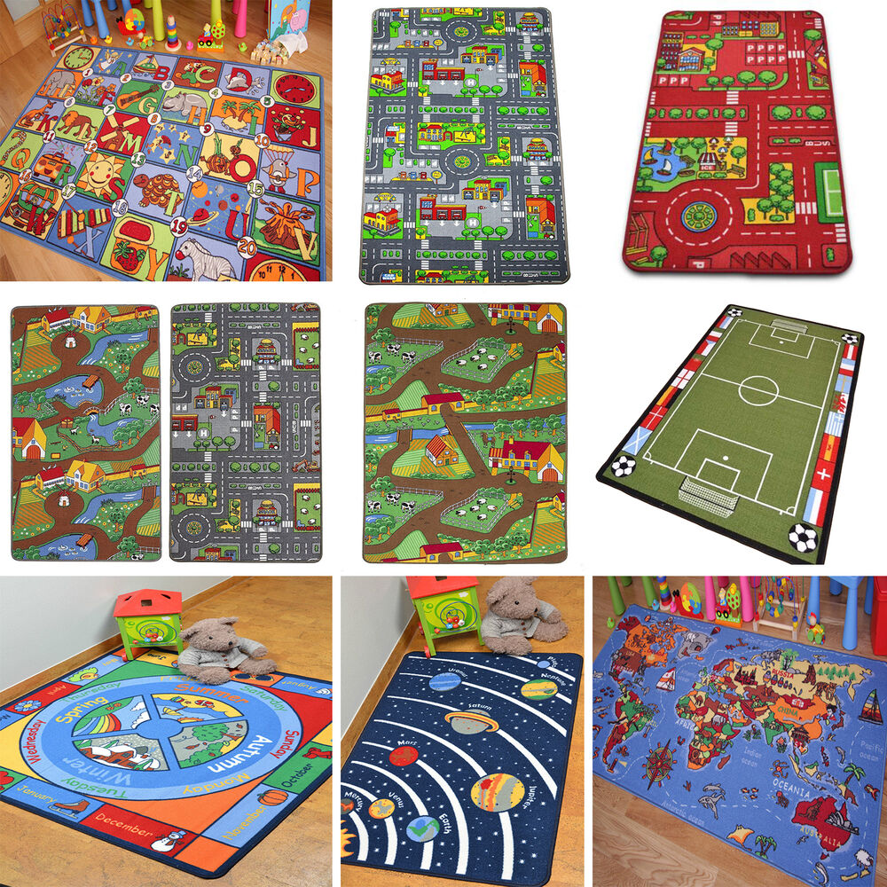 Educational Rugs Cheap: Kids Play Mats Roads Farm Letters Children Carpet