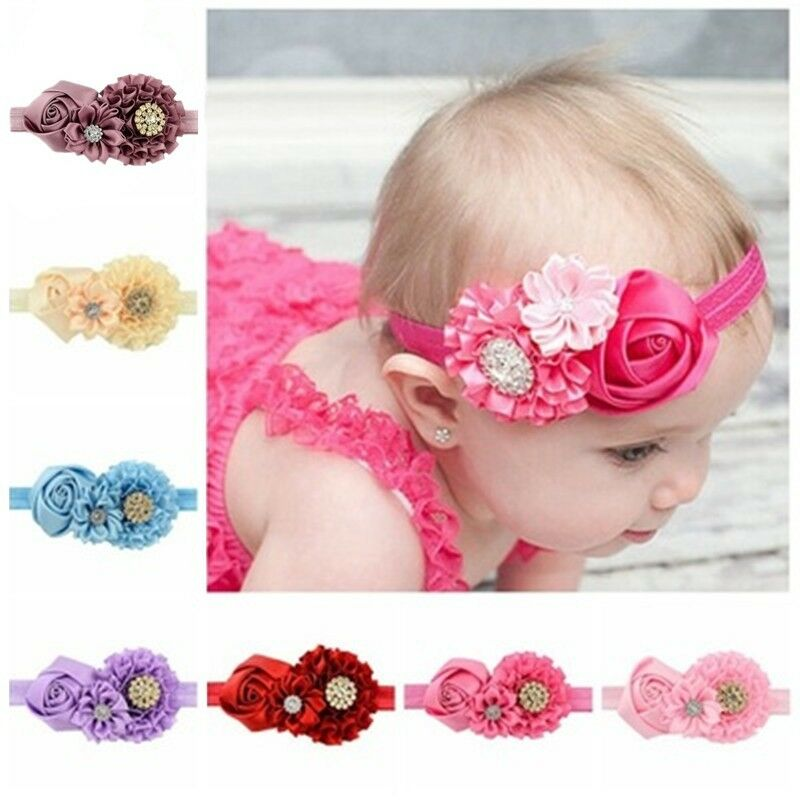 8 pcs toddlers hair accessories handmade diamond flower
