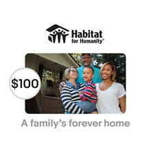 Habitat for Humanity $100 A Family's Forever Home Symbolic Charitable Donation