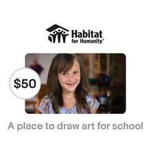 Habitat for Humanity $50 A Place for Lily to Draw Symbolic Charitable Donation