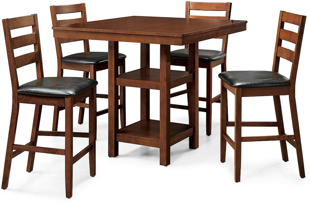 Counter Height Dining Set Dalton Park 5 Piece Mocha Garden