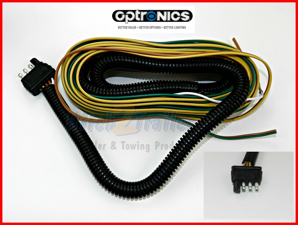 New 25 Wishbone Style Trailer Wiring Harness with 4 Flat