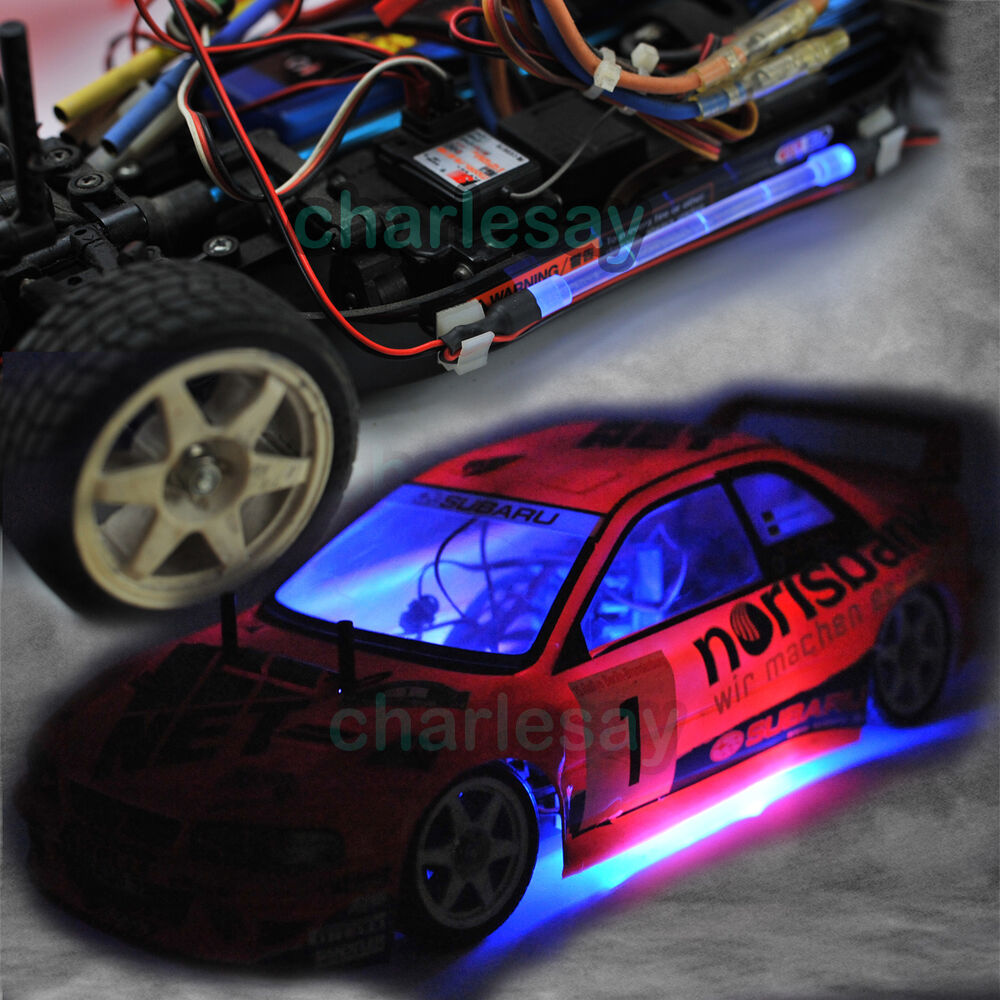 rc car truck chassis body led light strip tube blue color look drifting 1 10 ebay. Black Bedroom Furniture Sets. Home Design Ideas