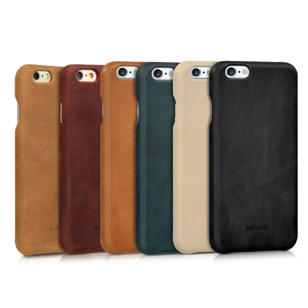 leder h lle f r apple iphone 6 6s handy cover case tasche. Black Bedroom Furniture Sets. Home Design Ideas