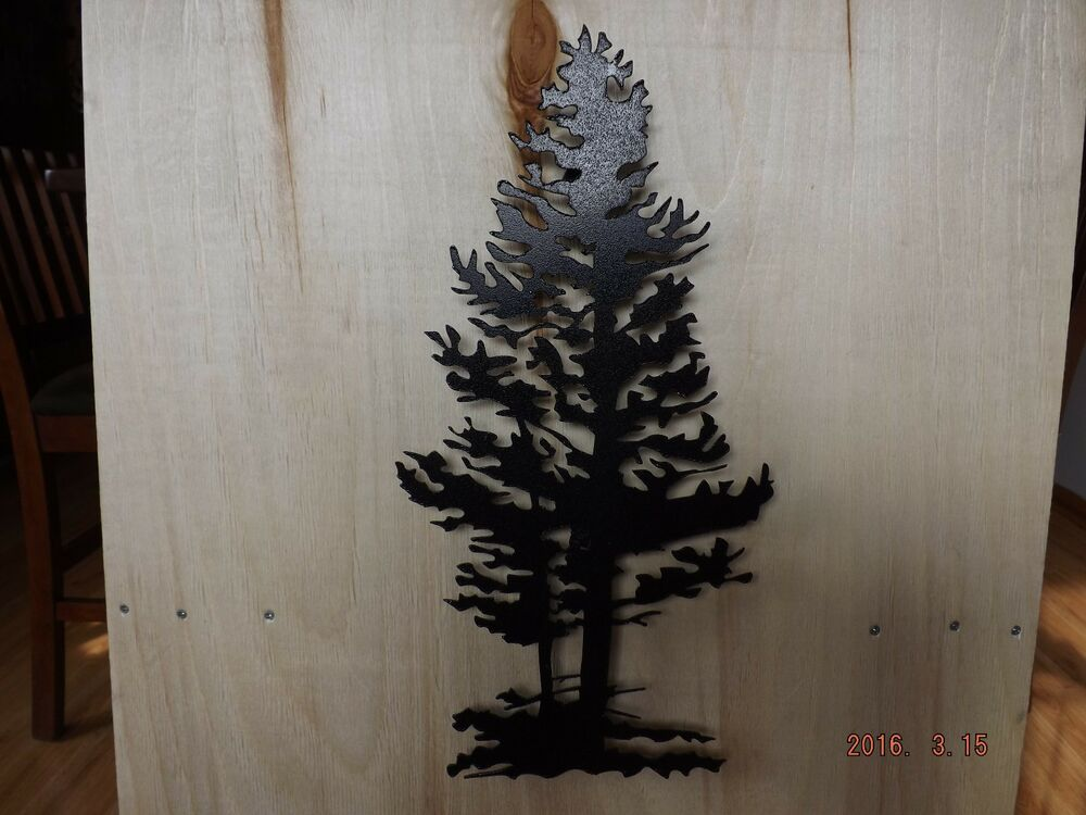 Metal Wall Art, 3D Pine Tree
