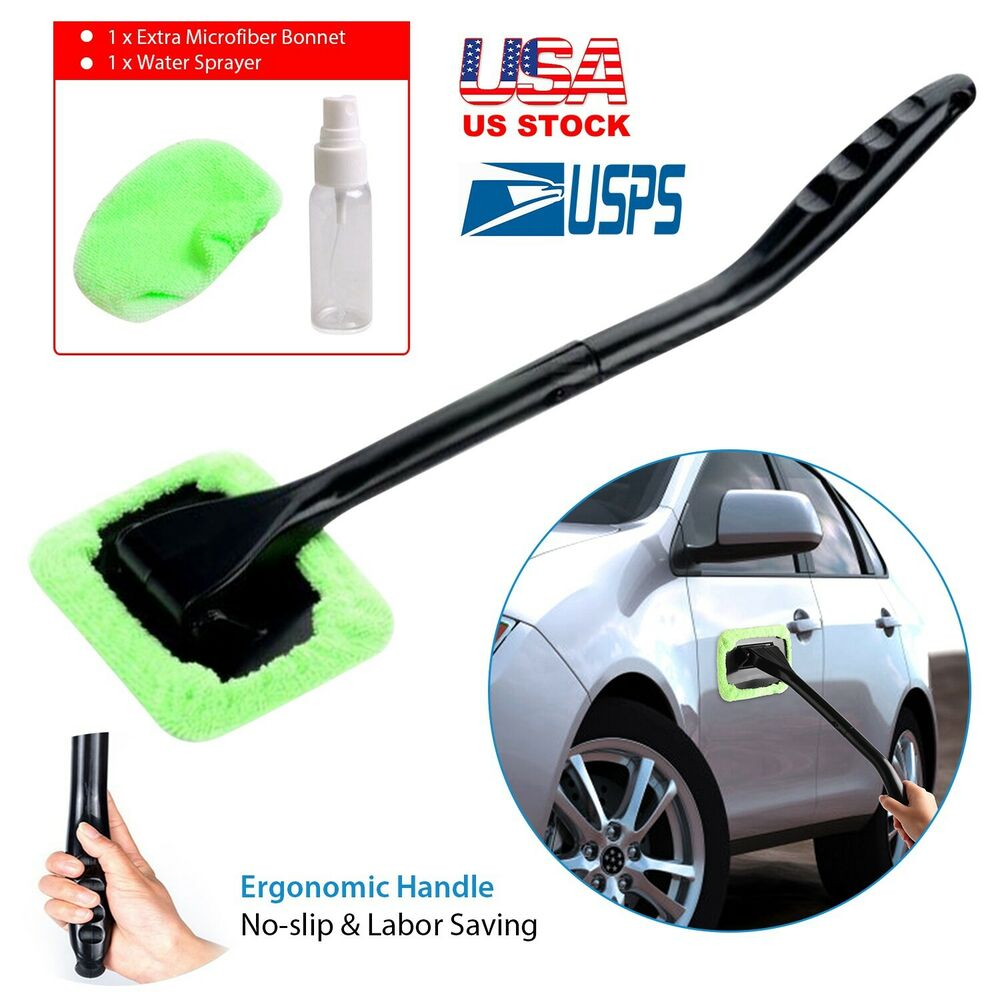 1 microfiber windshield clean car auto wiper cleaner glass window tool brush kit ebay. Black Bedroom Furniture Sets. Home Design Ideas