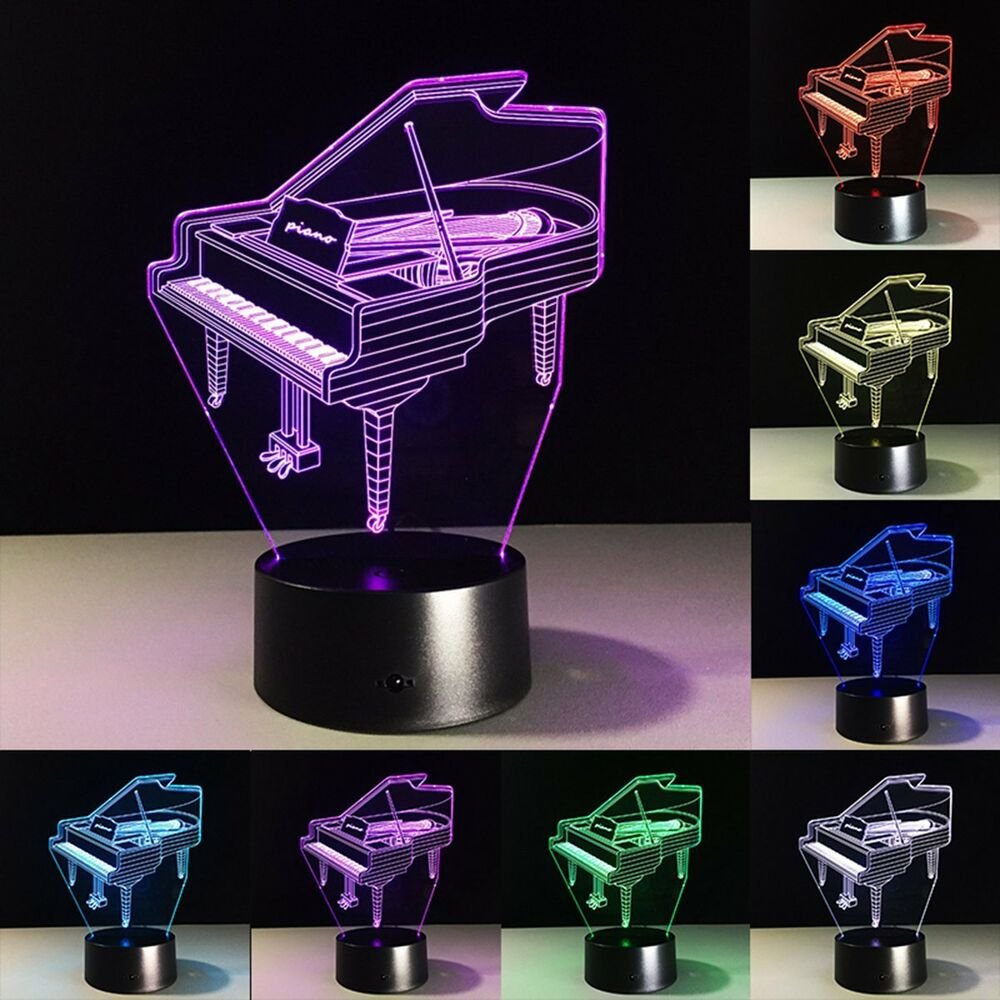 Desk Lamp Touch Switch : D illusion piano color changing touch switch desk table