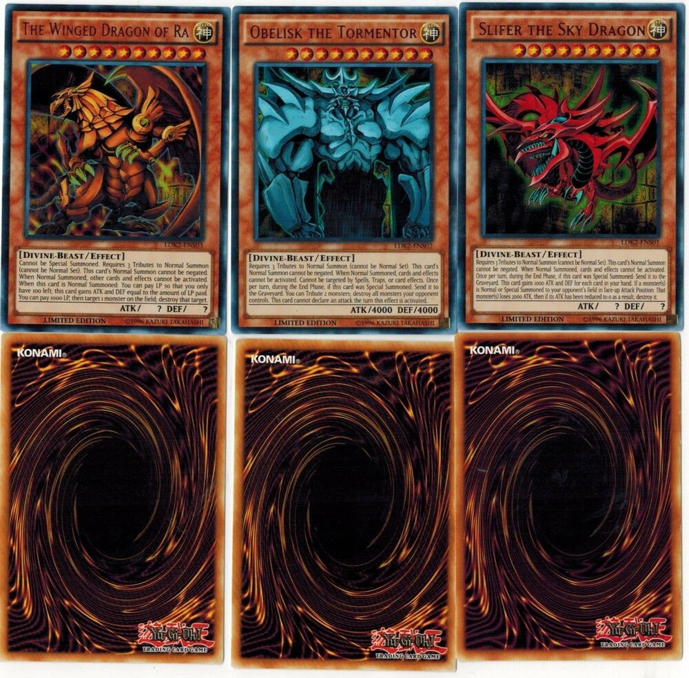 Obelisk The Tormentor Slifer Sky Dragon Winged Dragon Of