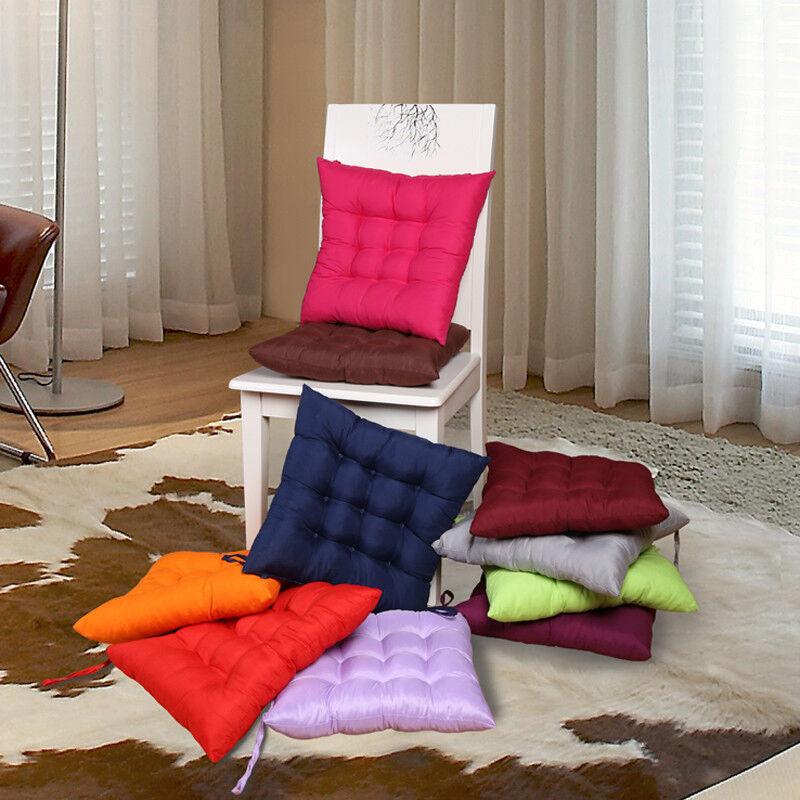 2018 home office outdoor square cotton seat cushion buttocks chair cushion cover ebay. Black Bedroom Furniture Sets. Home Design Ideas