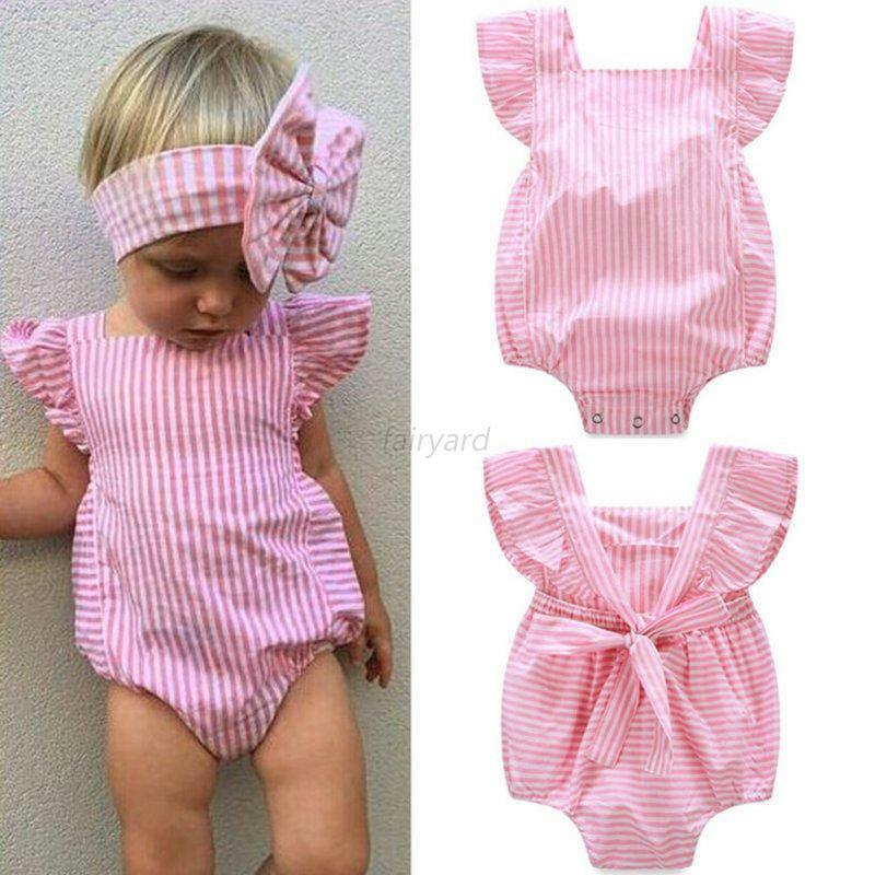 cute newborn kids baby girls cotton romper jumpsuit. Black Bedroom Furniture Sets. Home Design Ideas