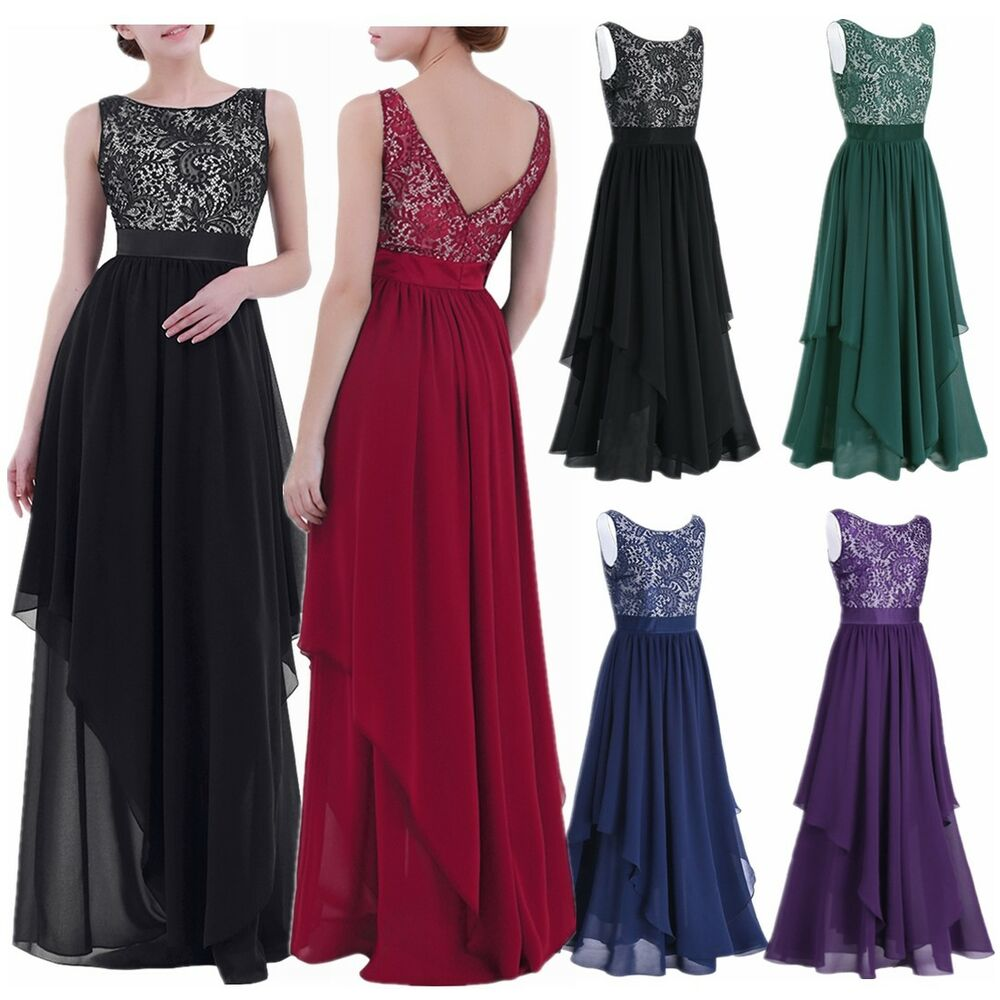 Women Long Prom Dress Gown Party Evening Party Bridesmaid