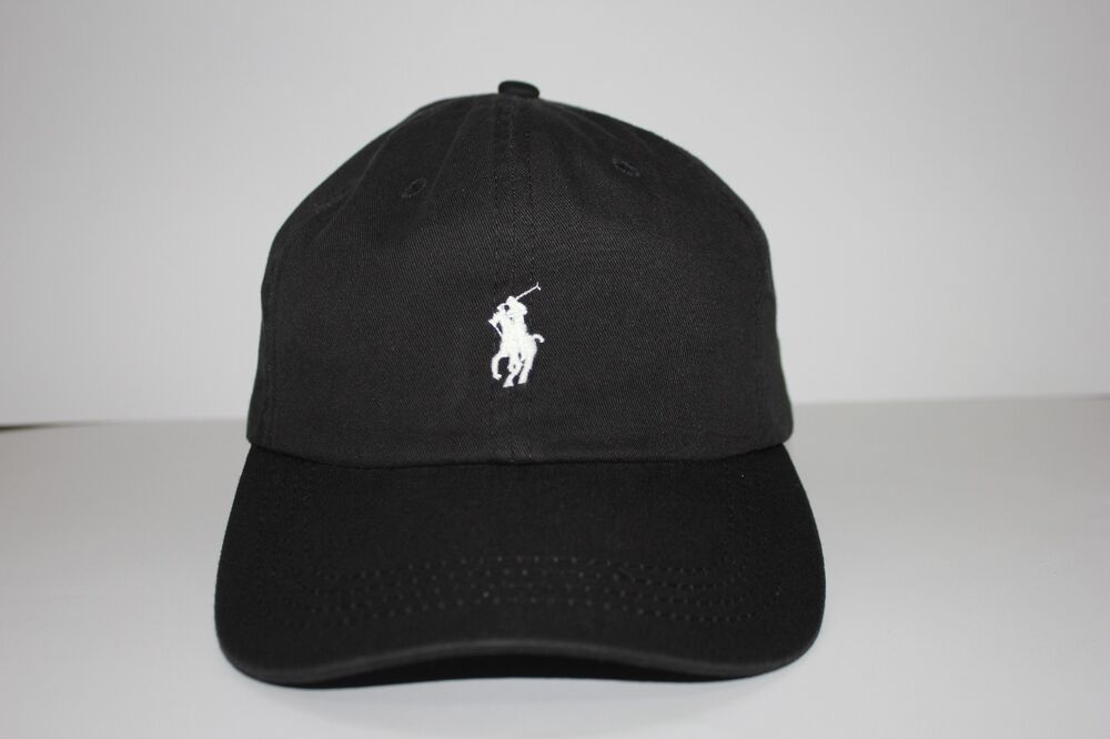 ralph lauren baseball cap hat 100 cotton black one size fit for all. Black Bedroom Furniture Sets. Home Design Ideas