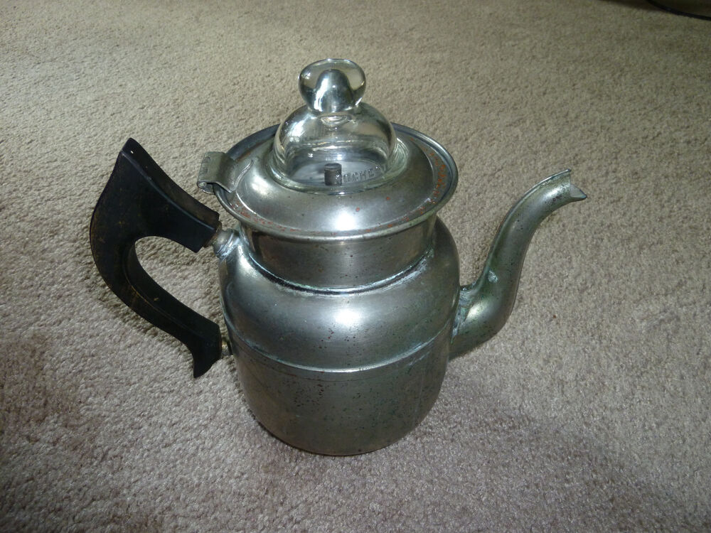 Antique Vintage Coffee Water Stove Pot Percolator eBay