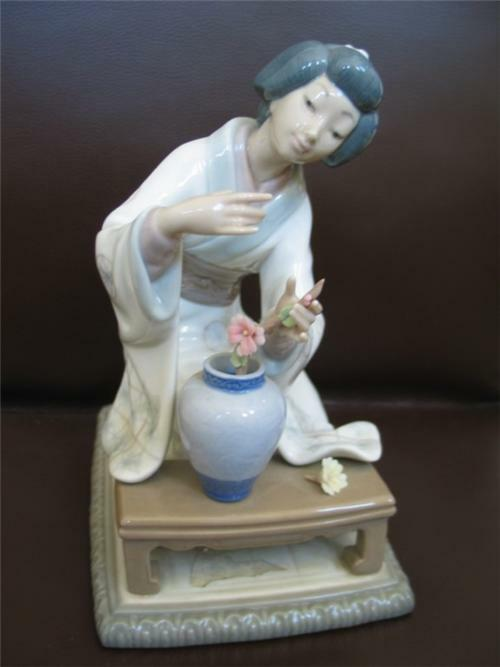 Lladro oriental girl figurine figure sold as is ebay - Consider including lladro porcelain figurines home decoration ...