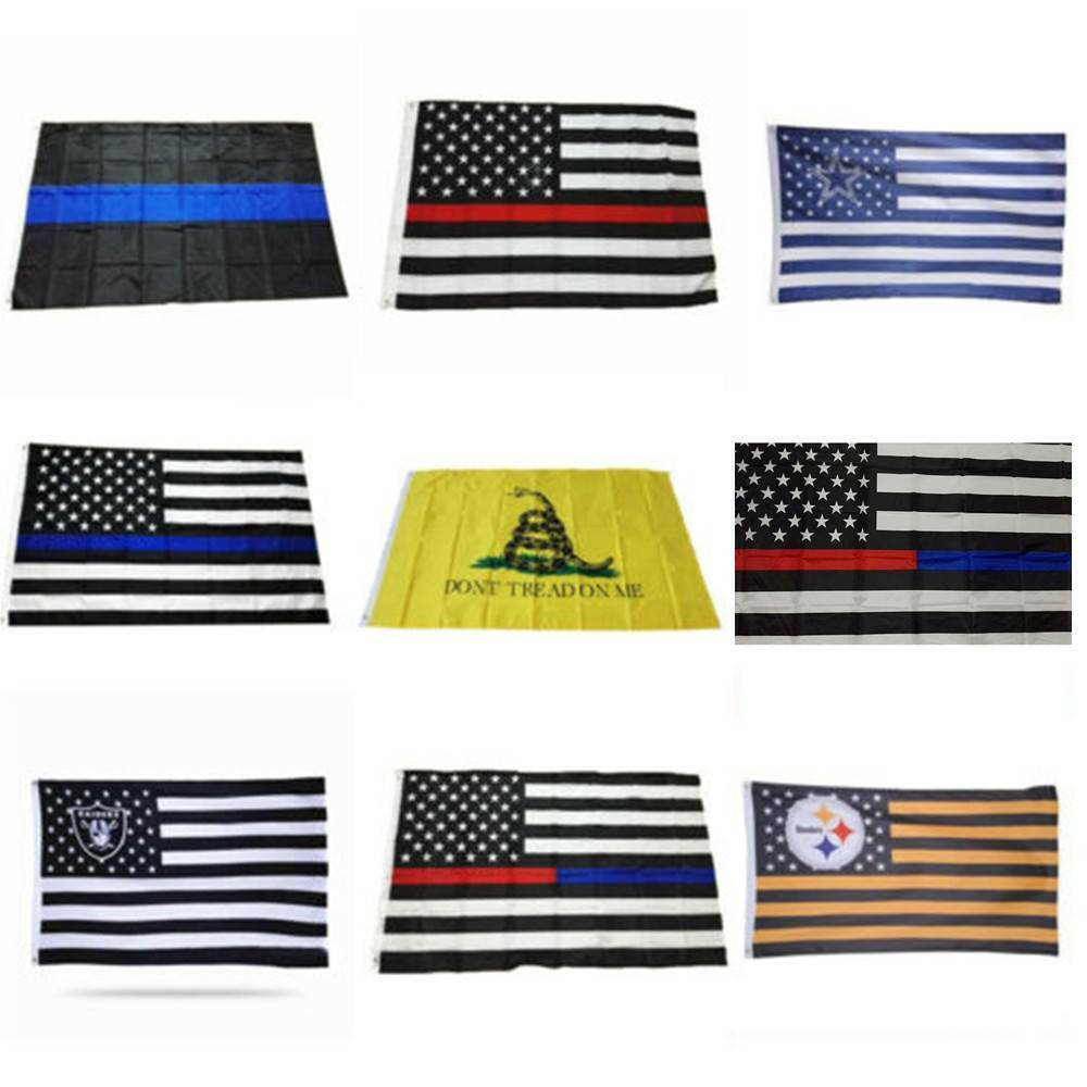 Details about 3x5 Foot USA America Police Support Flag Memorial Law  Enforcement Grommets Flags 4b0f06a064d