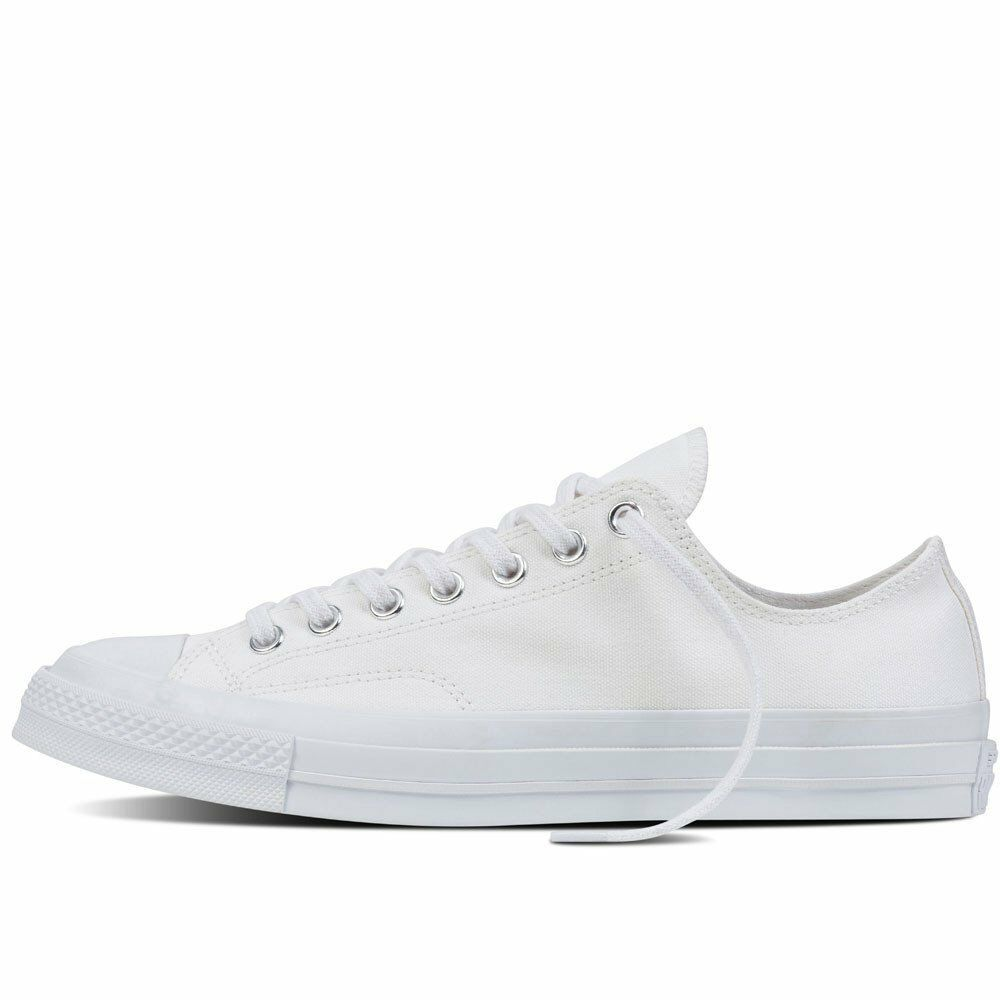 9d620368522a Details about Converse Chuck Taylor All Star 70 White Monochrome Low Top  Trainers 147071C