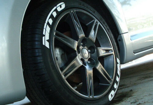 """NITTO Tire Letters - 1.25"""" For 18"""" and 19"""" Wheels (8 ..."""