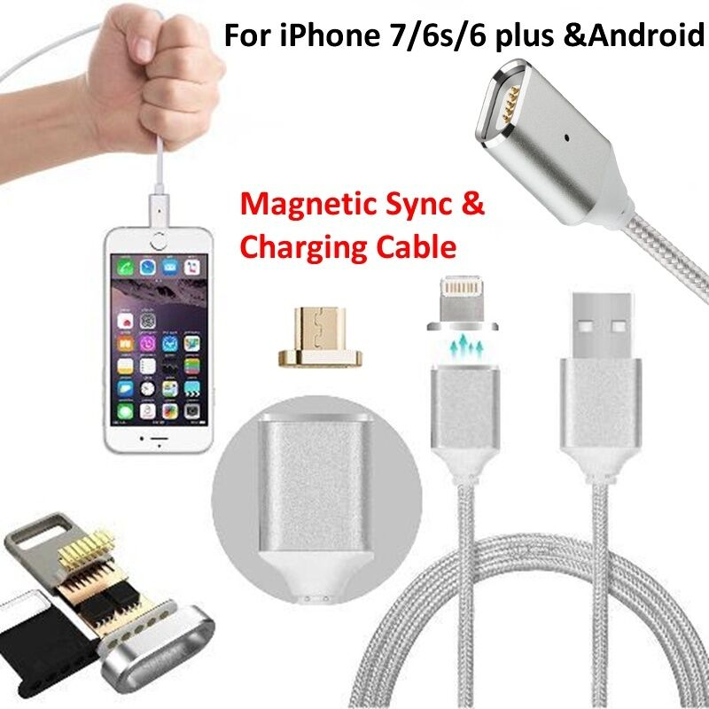 iphone magnetic charger magnetic type c micro usb charger braided cable for iphone 2637