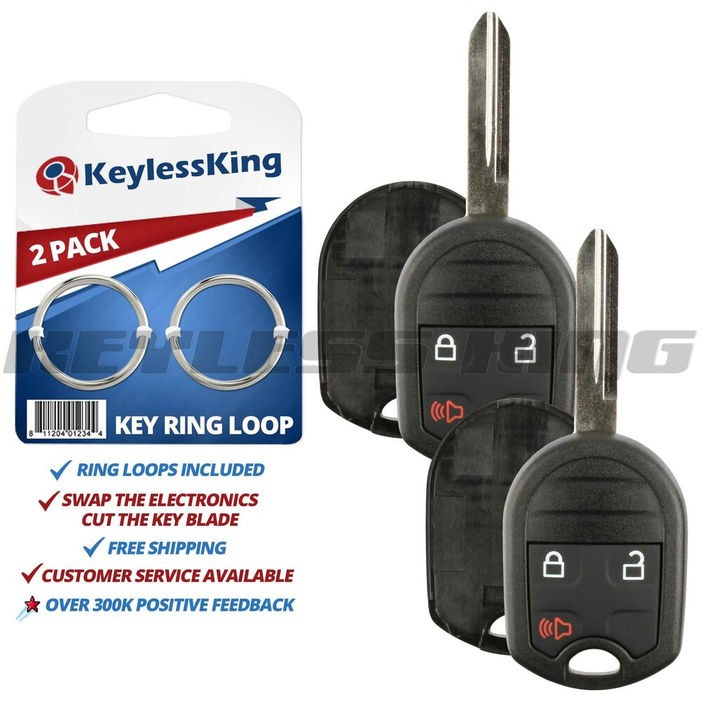 2 New Uncut Keyless Entry Key Remote Fob Replacement Case