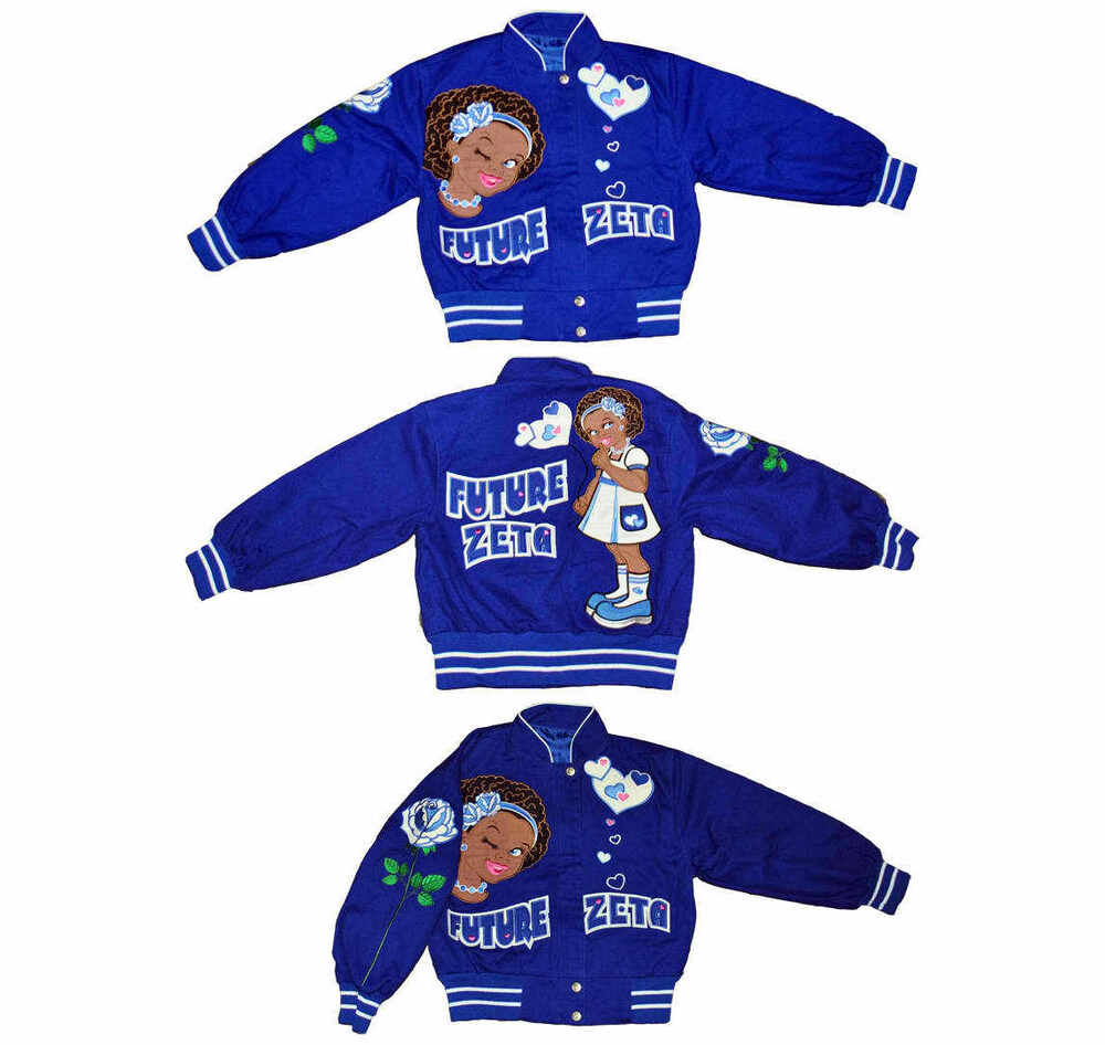 future zeta phi beta blue long sleeve jacket girls future zeta phi