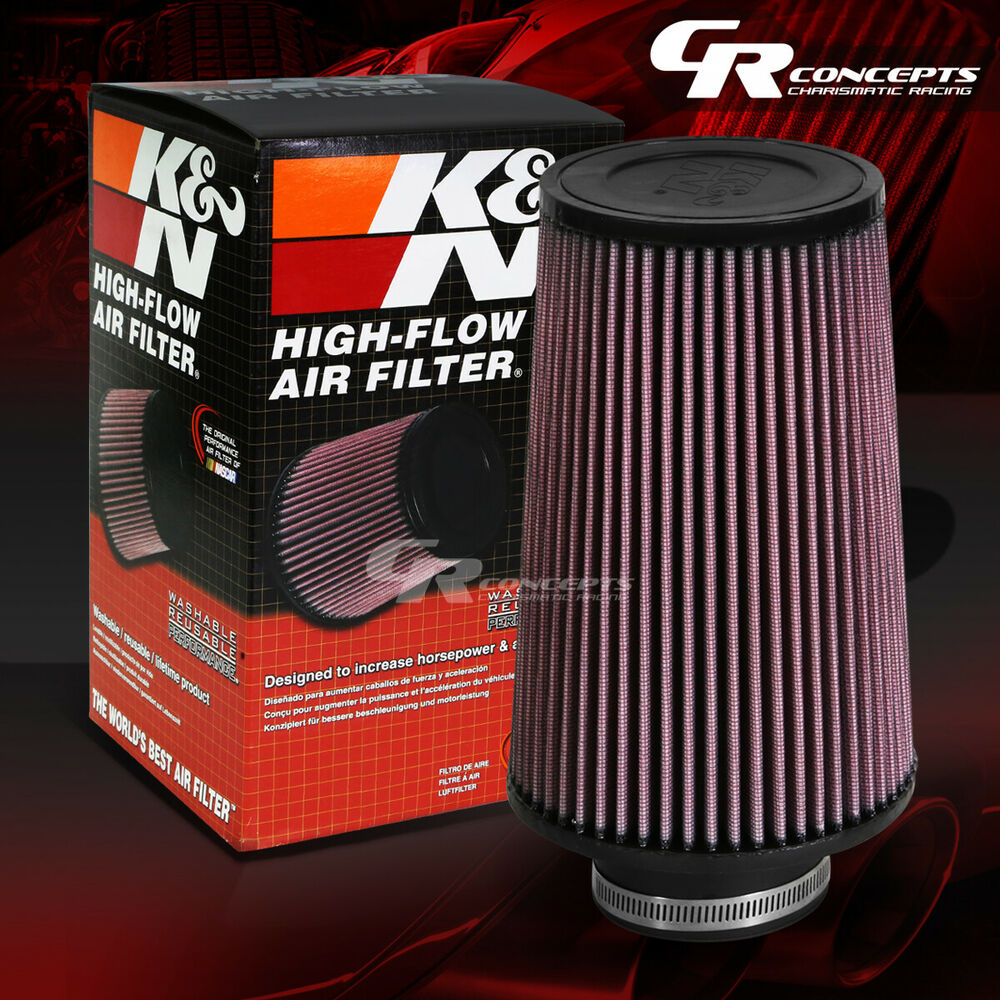 "K N Re 0930 Universal Clamp On Air Filter Universal Air: K&N CLAMP-ON ROUND TAPERED MESHED COTTON GAUZE 3""ID AIR"