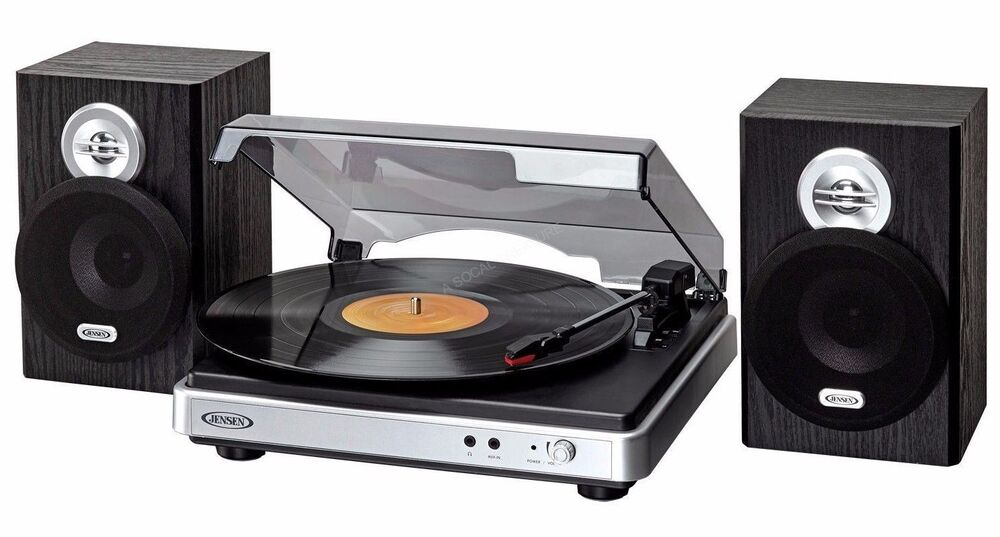 Turntable With Speakers Usb Vinyl Record Player To Mp3 3