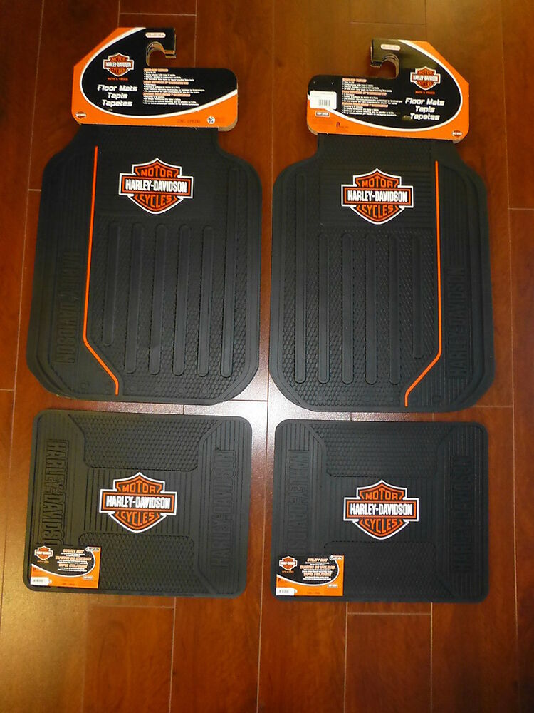 Harley Davidson Elite Front And Rear Car Truck Rubber