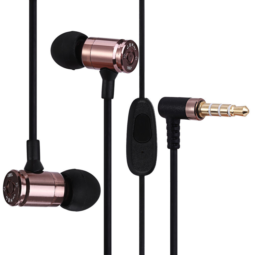 36e9d7dc224 Details about JBM MJ007 Super Bass Stereo Headsets 3.5mm Plug Bullet  Earphones with Mic