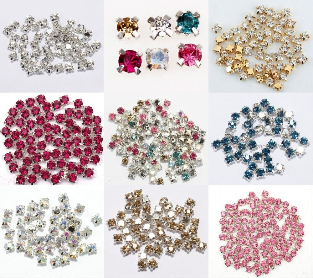 200pcs rhinestone crystal gemstone spacer beads jewelry for Birthstone beads for jewelry making