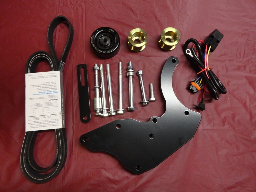 Dual Alternator Bracket Kit And 2 Overdrive Pulleys Chevy  Gm 2000