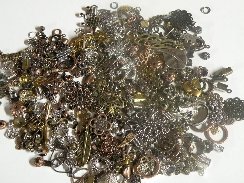 New Mini Metal Mix Beads Lot Jewelry Making Supplies Read