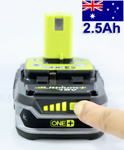 ryobi genuine one one plus 18v 2 5ah lithium ion battery. Black Bedroom Furniture Sets. Home Design Ideas