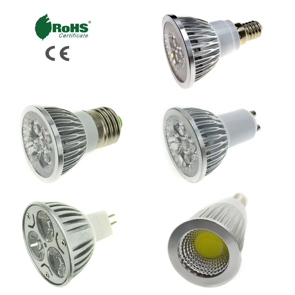 E27 E14 Gu10 Mr16 Led Spotlight 3w 4w 5w 6w 9w 12w 15w Bulb Smd Cob Lamp Light Ebay