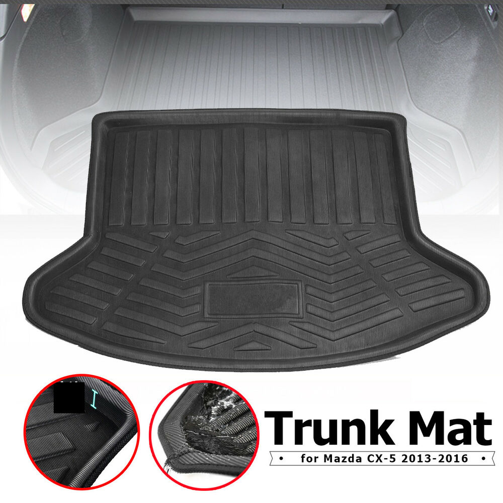 rear trunk cargo mat floor liner tray pad protector for mazda cx 5 2013 2016 ebay. Black Bedroom Furniture Sets. Home Design Ideas