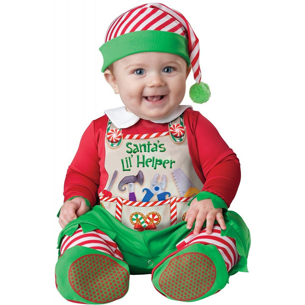 df14aae11 Details about Baby Elf Costume Christmas Outfit Fancy Dress