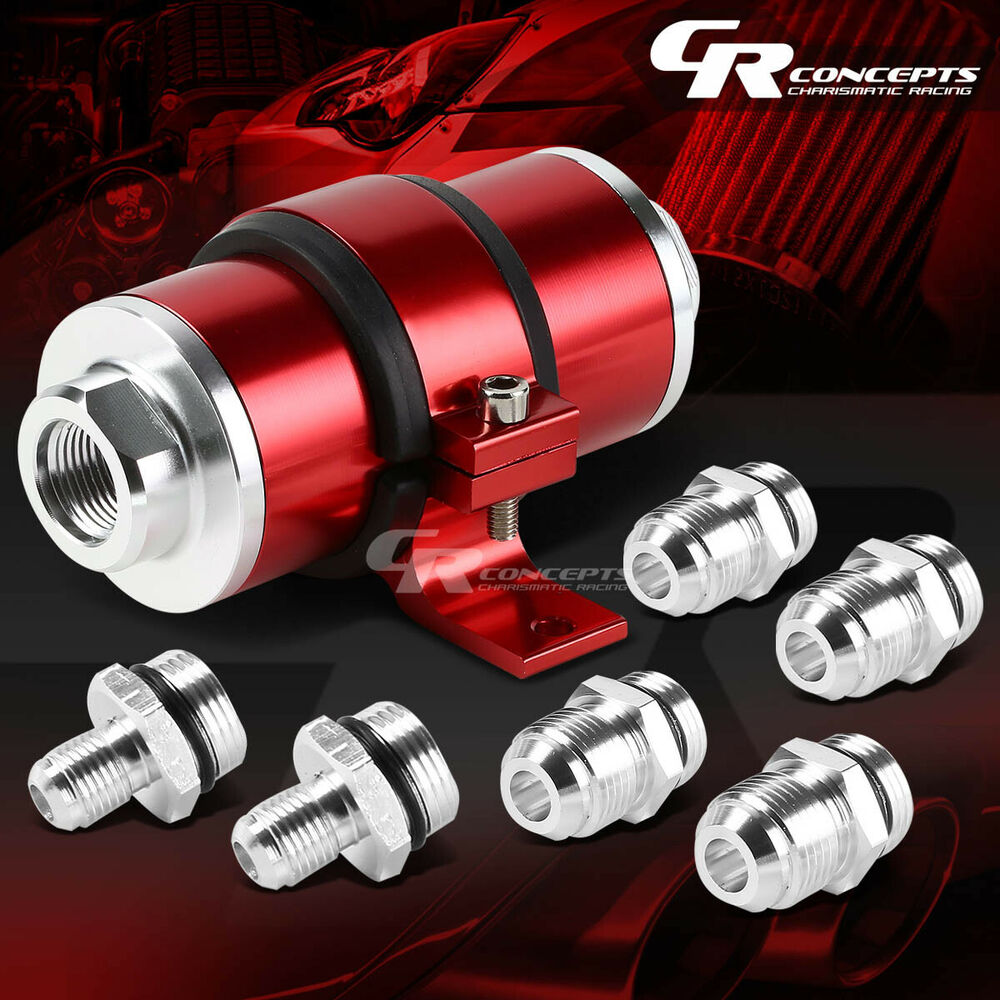 red 30 micron billet aluminum reusable inline fuel  gas
