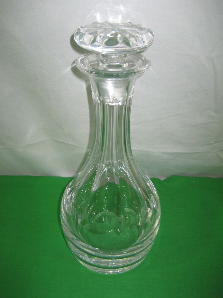 vintage lead clear crystal decanter bottle with stopper ebay. Black Bedroom Furniture Sets. Home Design Ideas