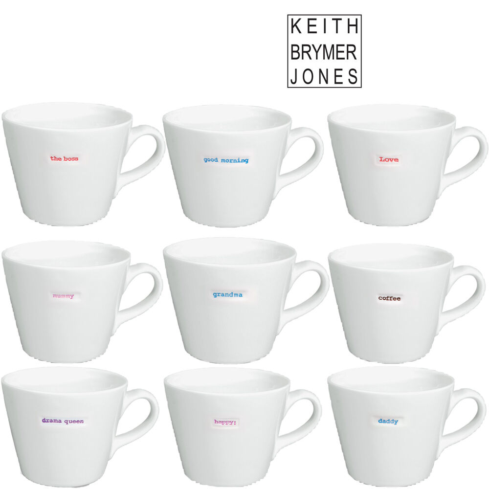 keith brymer jones word range ceramic coffee tea drinking bucket large mug ebay. Black Bedroom Furniture Sets. Home Design Ideas