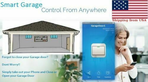 Garage Door Opener For Smartphone With App Wifi Enabled