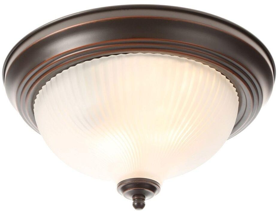Hampton Bay 3 Light Oil Rubbed Bronze Vanity Light With: Hampton Bay 2 Light Oil Rubbed Bronze Flushmount Frosted