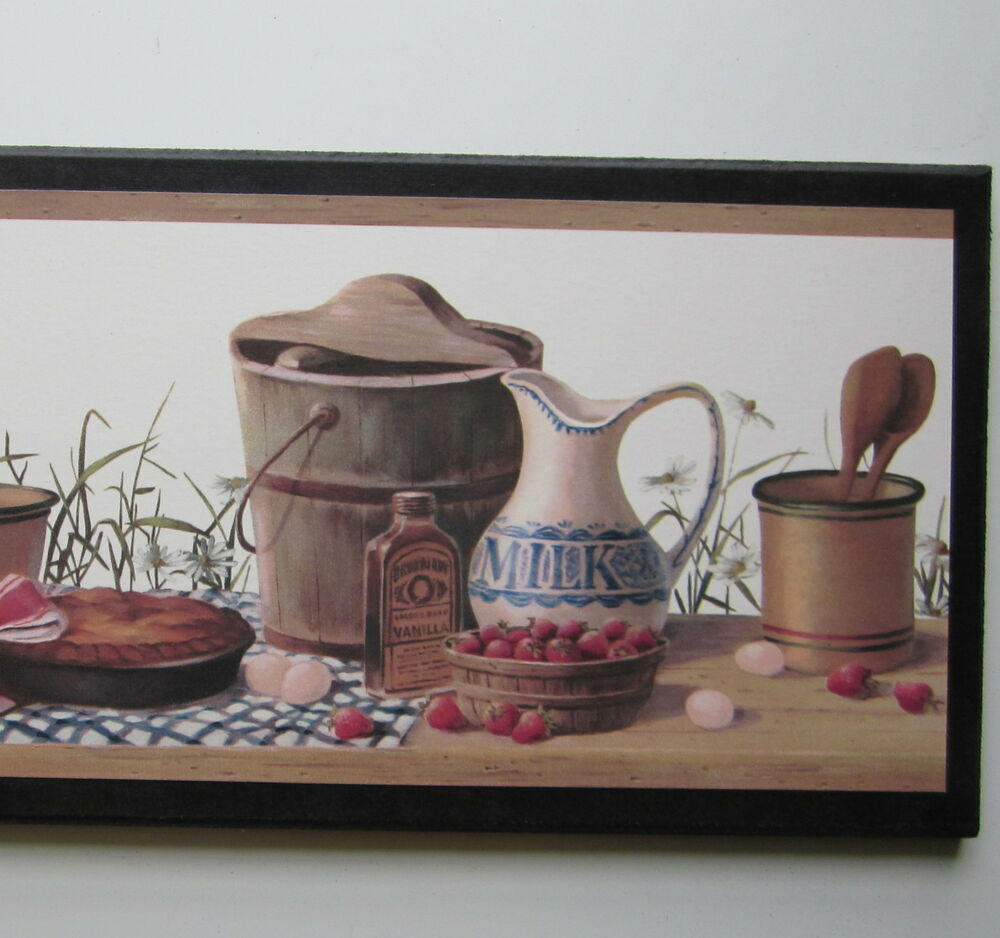 Country Kitchen Canisters sign wall decor plaque vintage farmhouse style pict
