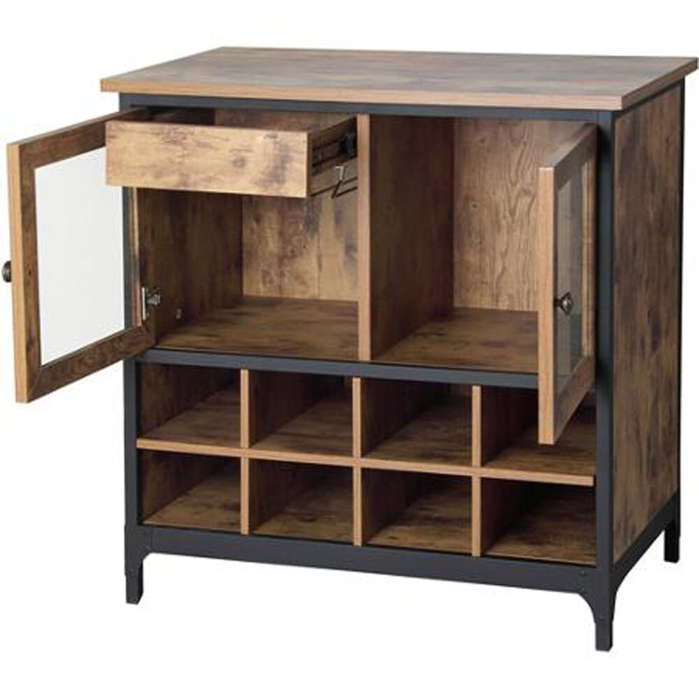 Rustic Pine Kitchen Cabinets: Wine Storage Cabinet Kitchen Rustic Buffet Vintage Country