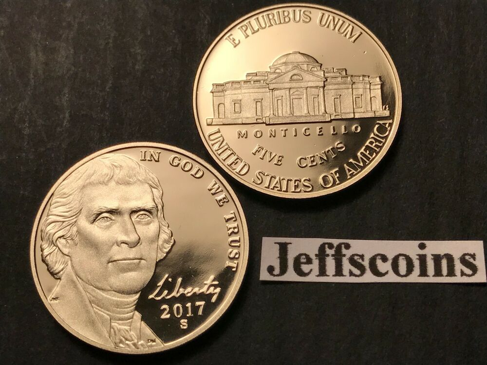 2017 S Jefferson Nickel Us Mint Proof Set Early Strike
