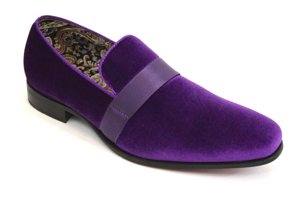 Mens Dress Formal Fancy Shoes AFTER MIDNIGHT 6660 Purple ...