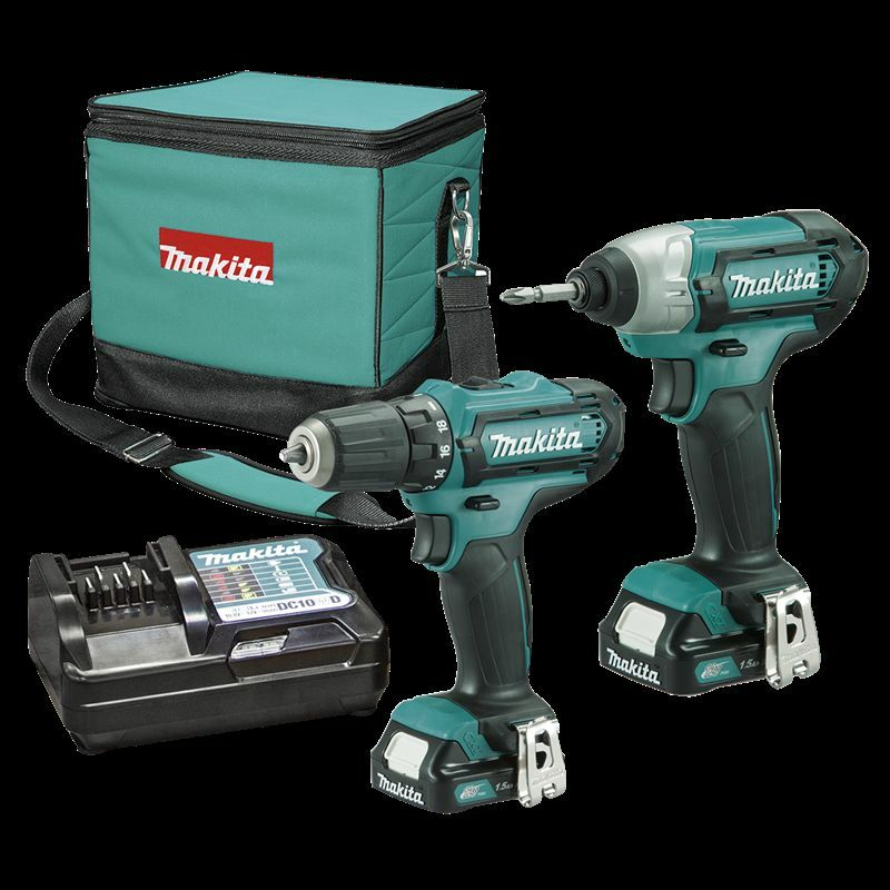 makita 12v li ion drill driver and impact driver combo kit ebay. Black Bedroom Furniture Sets. Home Design Ideas