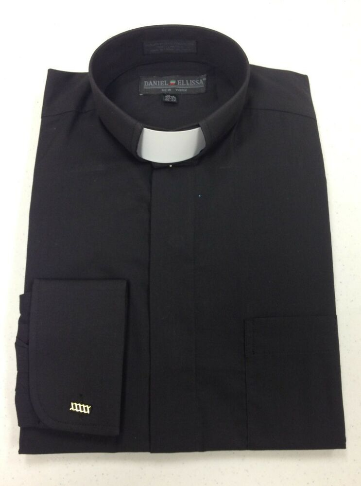 Men 39 s clerical clergy pastor preacher holy tab collar for Mens tab collar dress shirts