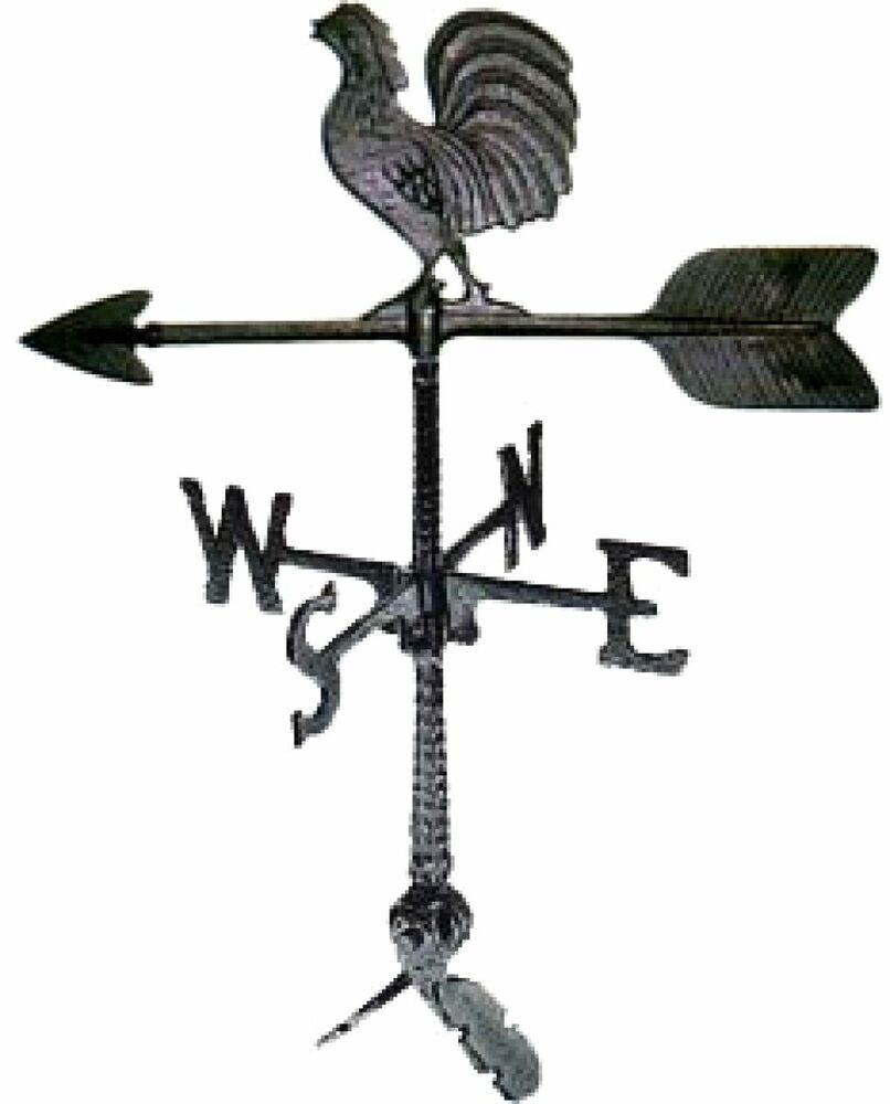 Vintage Tower Of Winds Weathervane: Weathervane Roof Mount Rooster Outdoor Wind Weather