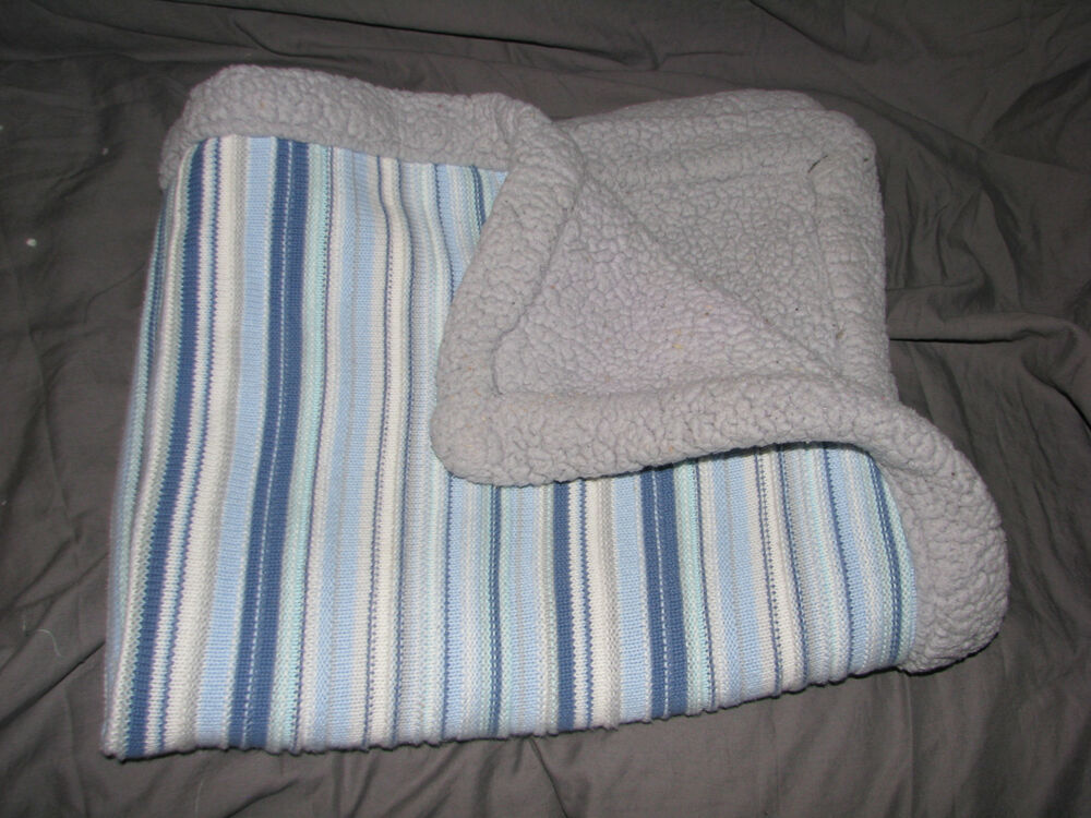 Circo Baby Boy Blanket Knit Sweater Stripe Sherpa Gray