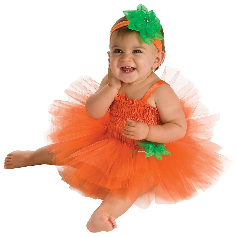 Pumpkin Tutu Costume for Baby Girls Ballerina Halloween ...